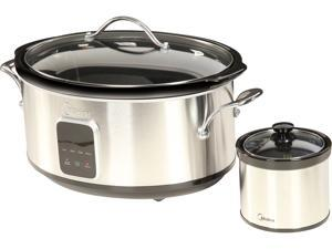 Midea 6.5 Qt. Slow Cooker with 16 oz. Warmer Crock MSC1765DIP