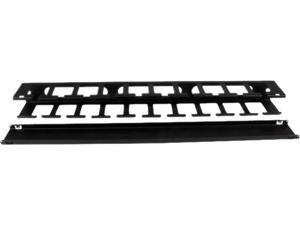 StarTech.com 1U Horizontal Finger Duct Rack Cable Management Panel with Cover