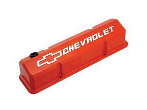 Proform 141-924 Slant-Edge Valve Cover Chevrolet And Bow Tie Emblem