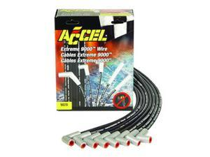 ACCEL 9000 Universal Fit Extreme 9000 8mm Ferro-Spiral Spark Plug Wire Set