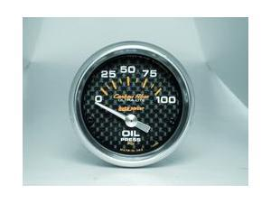Auto Meter Carbon Fiber Electric Oil Pressure Gauge