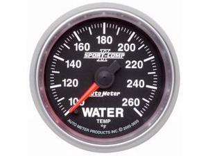 Auto Meter 3655 Sport-Comp II Electric Water Temperature Gauge