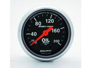 Auto Meter 3322 Sport-Comp Mechanical Oil Pressure Gauge