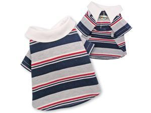 Adorable Multi-Colors Striped Polo Shirt for Dogs - M
