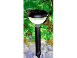 Homebrite Plastic Solar Garden Landscape Lights, 33833/12 Blanca, Set of 12,Black