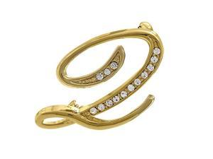 Gold Tone Initial Letter Brooch Pin - Q
