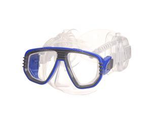 Pro ear scuba diving divers mask - blue (RX available)
