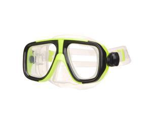 Tempered Glass Dive mask, scuba diving, snorkeling - low volume - Yellow