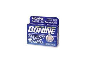 Bonine Motion Sickness Prevention Chewable Tablets 8 Per Box