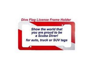 Scuba Dive License Plate Holder Frame for Car Truck Van
