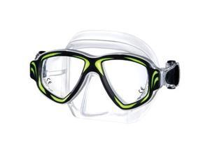 Synthesis metal aluminum scuba dive mask - Neon Yellow - RX ok