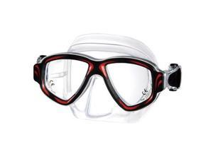 Synthesis metal aluminum scuba dive mask - Red - RX available