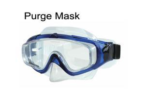 Sherwood Magnum EX Panoramic Single Window Purge Mask - tri-view