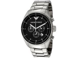 Emporio Armani Men's Sport Chronograph Black Textured Dial Stainless Steel