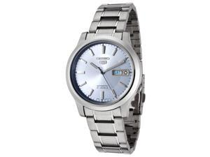 Men's Seiko 5 Automatic Light Blue Dial Stainless Steel