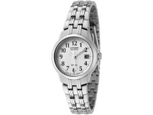 Citizen Women's Silhouette Eco-Drive White Dial Stainless Steel