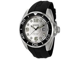 Invicta Men's Pro Diver Silver Dial Black Polyurethane