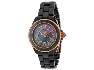 SWISS LEGEND Women's Black High Tech Ceramic Rose Gold Tone Accent