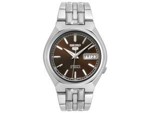Men's Seiko 5 Automatic Brown Dial Stainless Steel