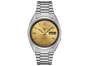 Men's Seiko 5 Automatic Gold Color Dial Stainless Steel