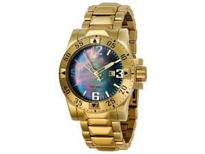 Invicta Men's Reserve/Excursion 18k Gold Plated Stainless Steel