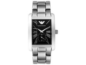 Emporio Armani Men's Black Dial Stainless Steel