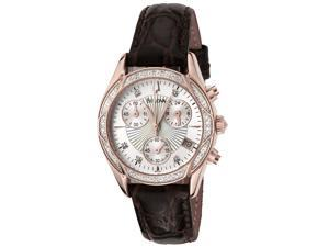 Bulova Women's Diamond Chronograph Brown Leather