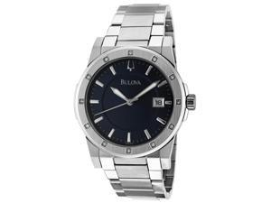 Men's Diamond Blue Textured Dial Stainless Steel