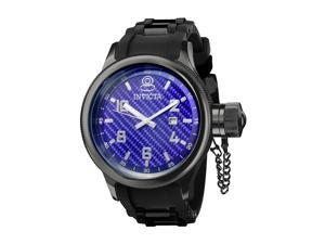 Invicta Men's Russian Diver Blue Dial Black Rubber