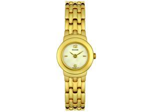 Pulsar Mother of Pearl Dial Gold-tone Stainless Steel Ladies Watch PEG642