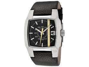 Diesel Black Dial Black Leather