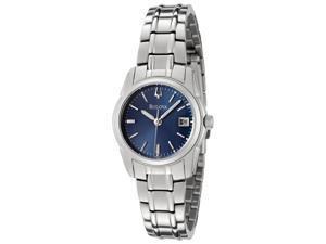 Bulova Women's Blue Dial Stainless Steel Watch