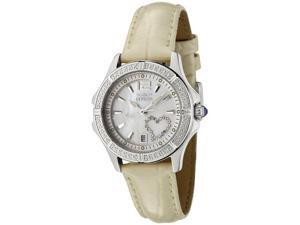 Invicta Women's Wildflower White Crystal Shiny Beige Leather