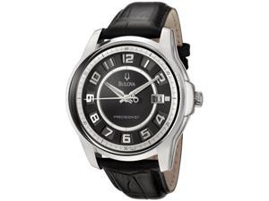 Bulova 96B127 Precisionist Claremont Black Leather Men's Watch
