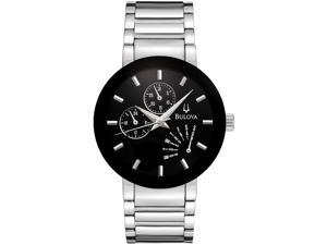 Bulova Men's Black Dial Stainless Steel