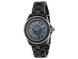 Swiss Legend Karamica 20050 Women's Black Mother of Pearl Dial Ceramic Roman Numeral Analog Watch