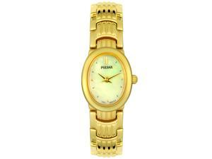 Pulsar Women's Goldtone White MOP Dial