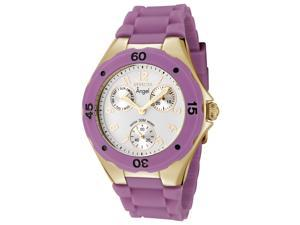 Invicta Women's Angel White Dial Purple Silicon