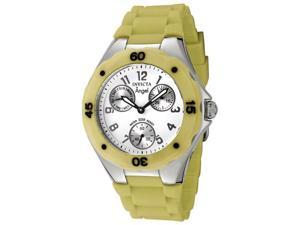 Invicta Women's Angel White Dial Yellow Green Silicon