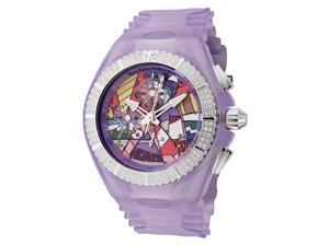 echnomarine Women's Cruise Britto Chronograph White Diamond Purple Transparent S