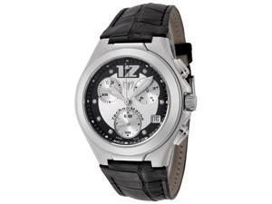 Technomarine Neo Classic Chronograph White Diamond Black Alligator