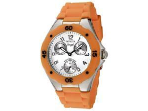 Invicta Women's Angel White Dial Orange Silicone