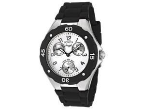 Invicta Women's Angel White Dial Black Silicone
