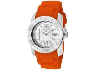SWISS LEGEND Women's Commander Light Silver Dial Orange Silicone