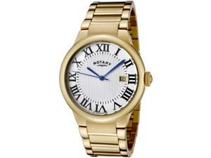 Rotary Savannah GB02526-01 Men's White Textured Dial Stainless Steel Roman Numeral Analog Watch