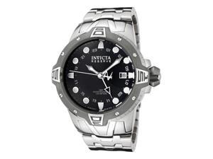 Invicta Men's Reserve GMT Black Dial Stainless Steel