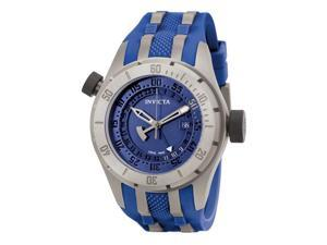 Invicta Men's Force GMT Blue Dial Blue Polurethane & Titanium