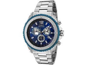Invicta II 1009 Men's Blue Dial Stainless Steel Chronograph Watch