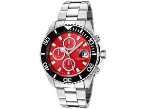 Invicta 1004 Pro Diver Men's Stainless Steel Chronograph Watch with Red Dial