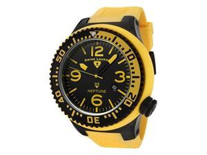 SWISS LEGEND Men's Neptune Black Dial Yellow Rubber